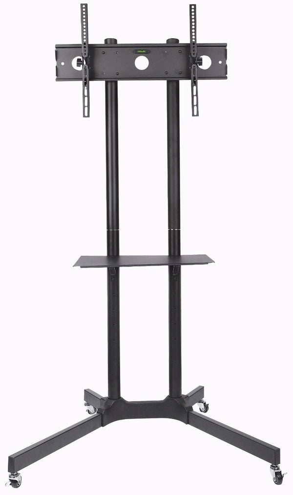 Mobile TV Cart Stand on Wheels for Flat Screen LCD LED TVS Fits 32″ to 70″