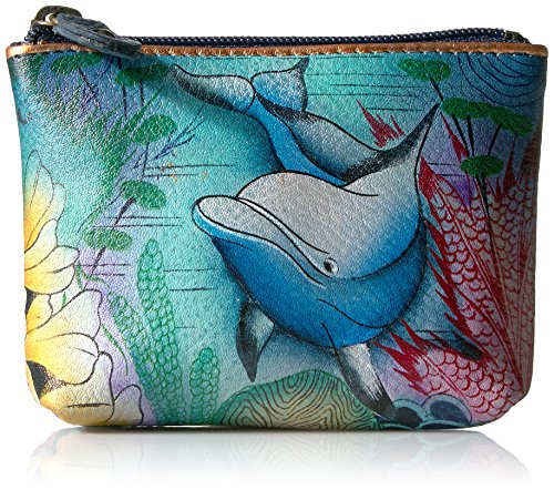 Anuschka Coin Pouch in Dolphin World
