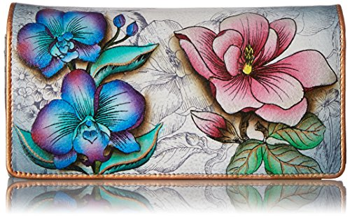 Anuschka Accordion Flap Wallet in Floral Fantasy