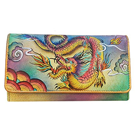 Anuschka Accordion Flap Wallet in Imperial Dragon