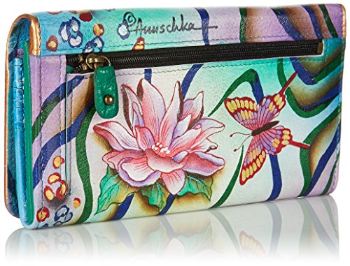 Anuschka Accordion Flap Wallet in Zebra Garden