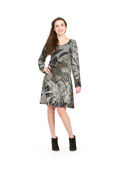 Papillon SD-9422 Long Sleeve Dress with Pockets