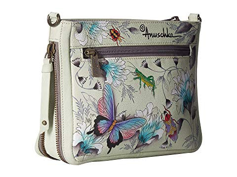 Anuschka Compact Crossbody With Front Pocket in Wondrous Wings