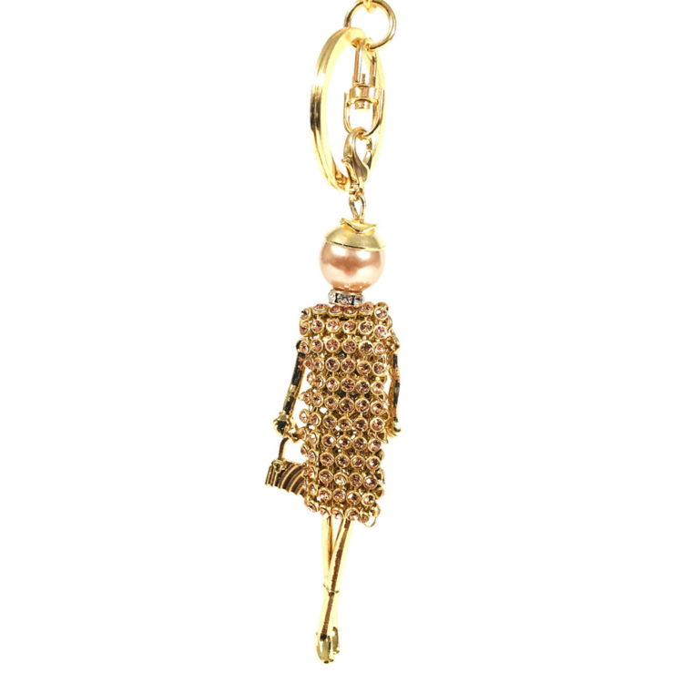 JKJ KEYCHAIN SHOPPING DIVA GOLD