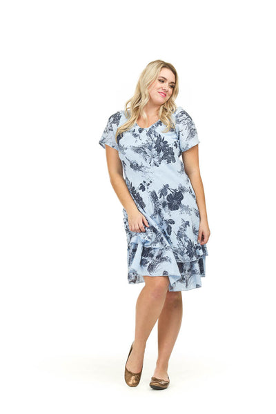 Papillon PD-03664 Textured Cotton Floral Dress