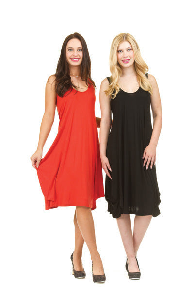Papillon Jersey Panel Dress With Back Drawstring