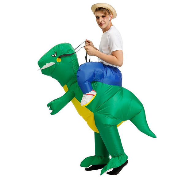 Inflatable Dinosaur Unicorn Cowboy Costume - mysmartestbuy.com