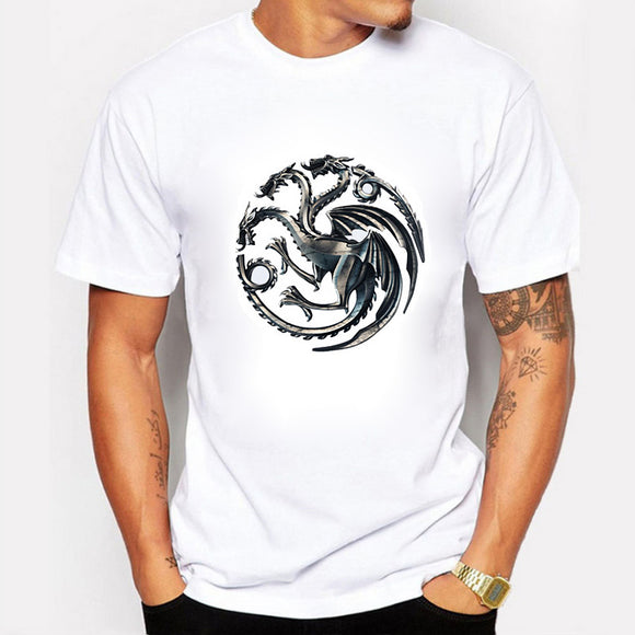 Targaryen Dragon T shirt Men Fire Blood T - shirt - mysmartestbuy.com
