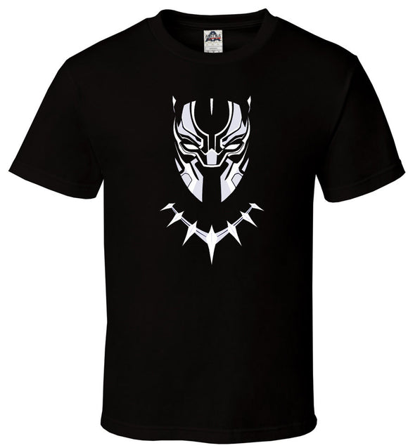 Black Panther Superhero T-Shirt Face Marvel - mysmartestbuy.com
