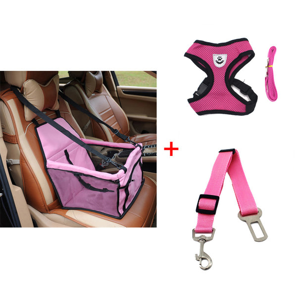 Seat Dog Car Seat Basket Pet Safety Belt Mesh Dog Harness - Thepetlifestyle