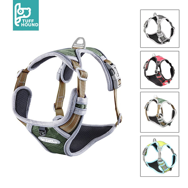 Adjustable Large Pet Dog Harness No Pull Reflective Nylon - Thepetlifestyle