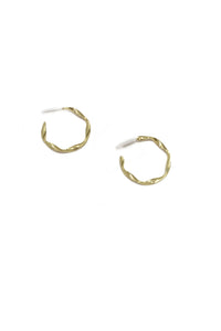 Wavy gold platted steel hoops