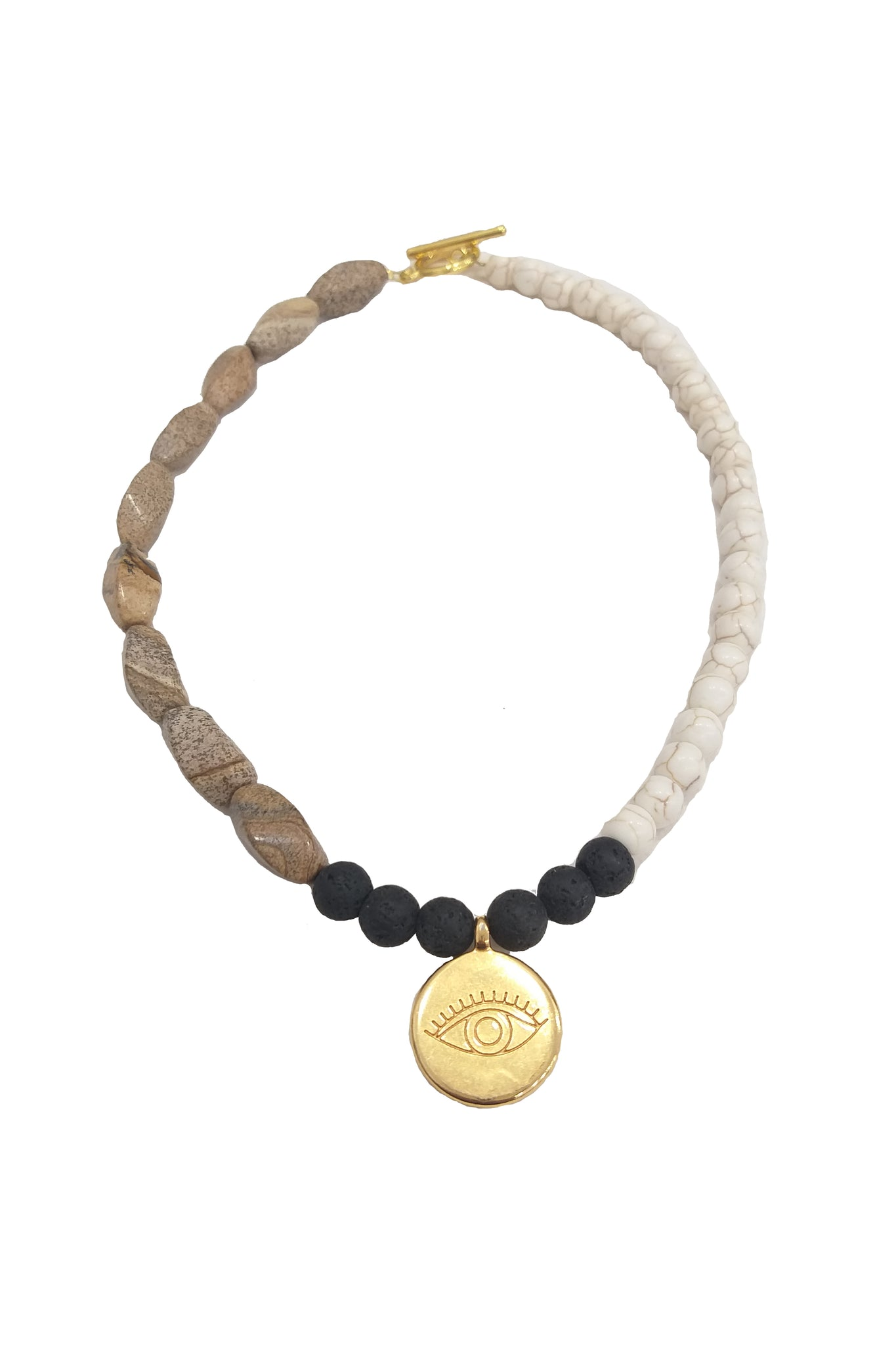 Natural tones and stones necklace - Sofi Moukidou