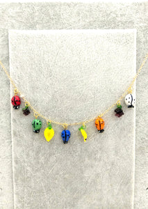 Tiny murano glass charm necklace - Sofi Moukidou