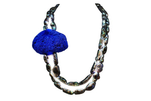 Multistrand freshwater pearls and natural sponge necklace - Sofi Moukidou
