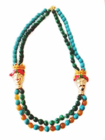 Frida and Diego necklace