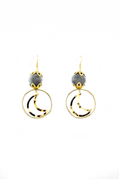 Tortoise moon earrings - Sofi Moukidou