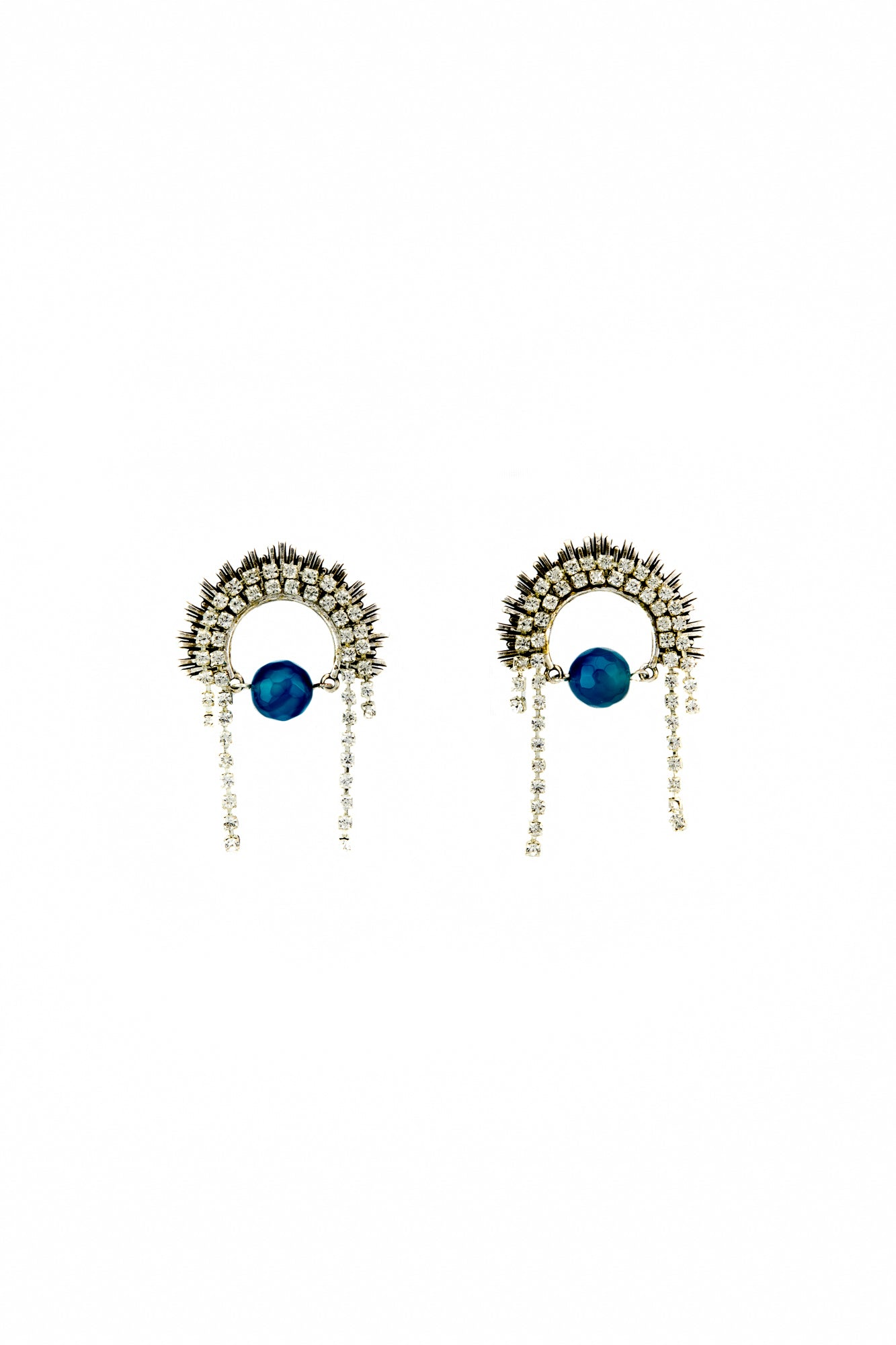 Rhinestone tiara earrings