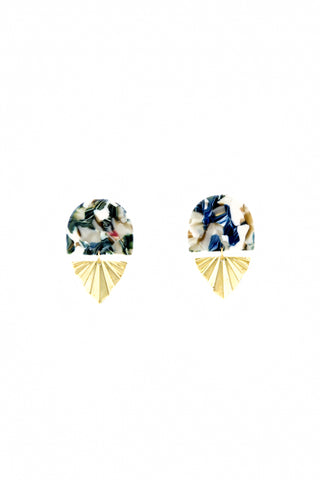 Mosaic fan earrings