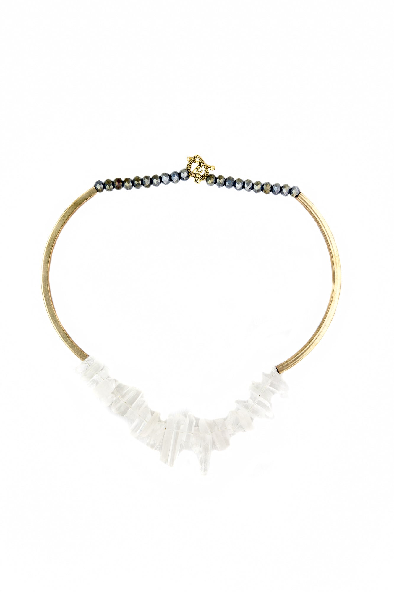 Quartz spikes necklace