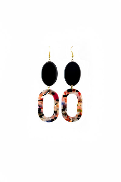 Black onyx floral earrings - Sofi Moukidou