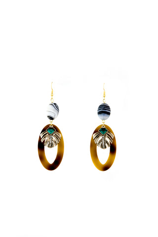 Vintage leaves earrings - Sofi Moukidou