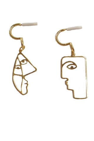 Picasso faces earrings
