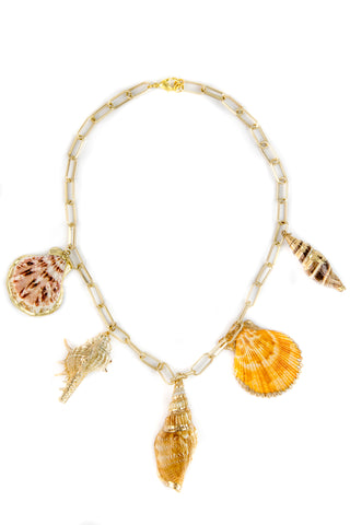Shells collage necklace