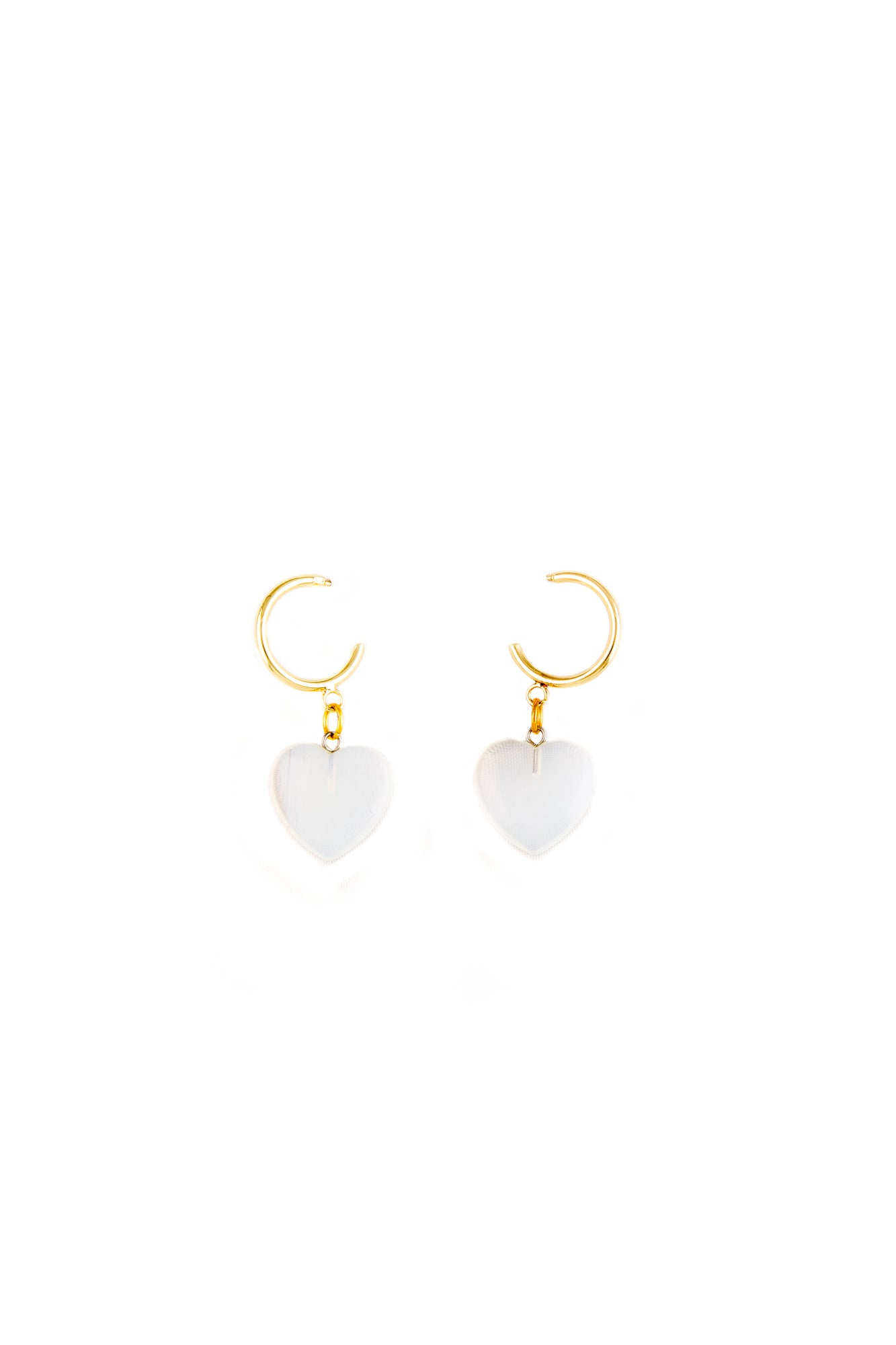 Moonstone Heart shaped earrings - Sofi Moukidou
