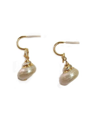 White gold platted shells earrings - Sofi Moukidou