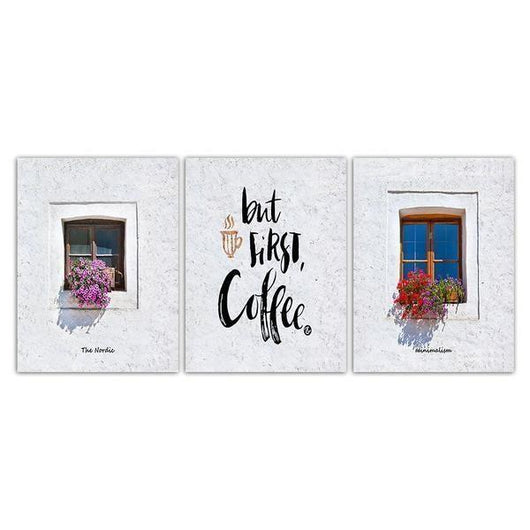 Coffee Cup Wall Art Canvases