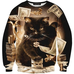 Black Cat Sweatshirt Pullover