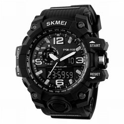 Outdoor Multifunctional Digital Tactical Watch Dual Display Sports Men Waterproof Double Movement Noctilucent Wrist Watches