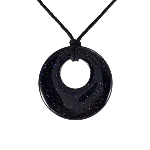 New Zealand Souvenir Jewellery - Blue Goldstone Pendant