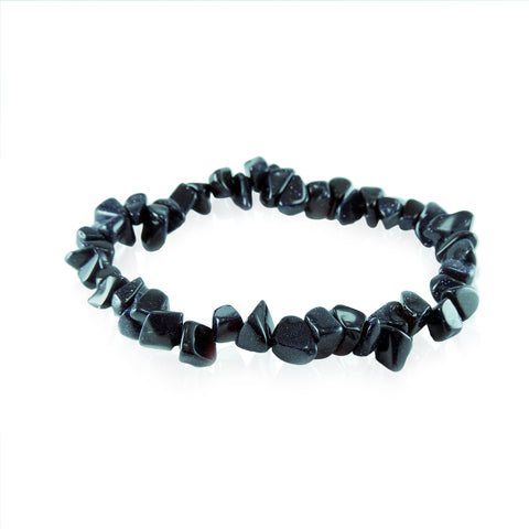 New Zealand Souvenir Jewellery - Blue Goldstone Bracelet