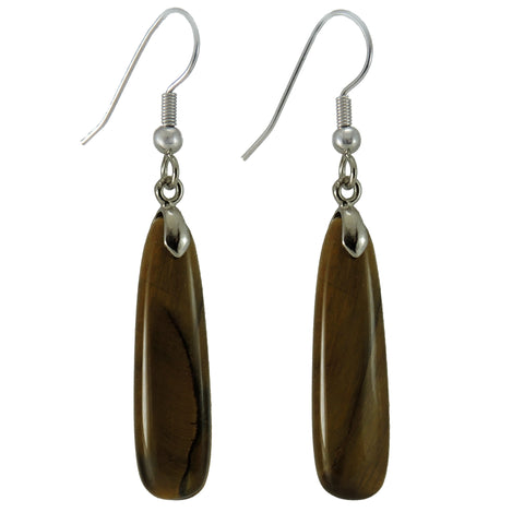New Zealand Souvenir Jewellery -TigerEye Gemstone Earring