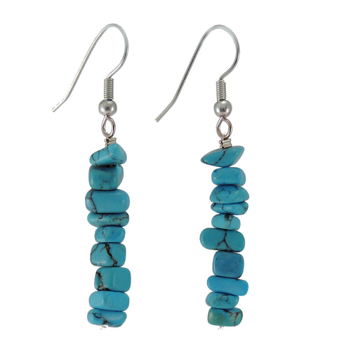 New Zealand Souvenir Jewellery - Turquoise Howlite Earring