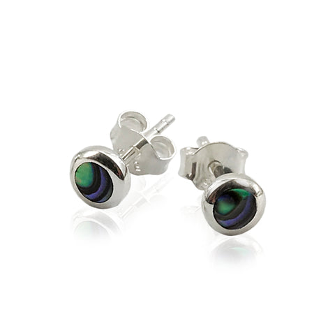 New Zealand Souvenir Paua Jewellery - .925 Sterling Silver Earring