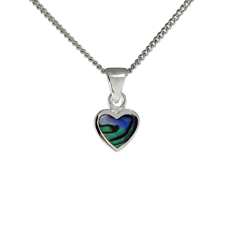New Zealand Souvenir Paua Jewellery - .925 Sterling Silver Pendant
