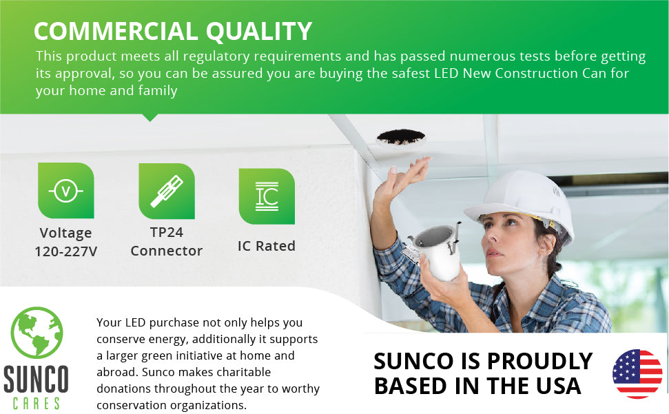 "air-tight IC Rated 4 inch remodel cans Easily add any 4"" LED retrofits downlights using the TP24 connector.  title 24 ENERGY EFFICIENT - SUSTAINABLE - ECO-FRIENDLY 
