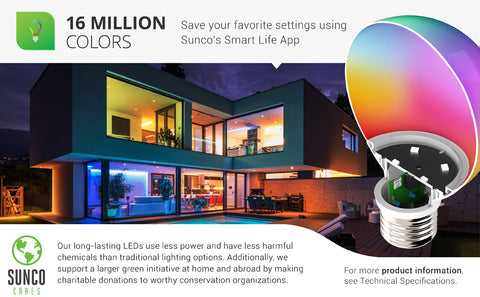 sunco lighting led light bulb convenient G25 led smart bulb provides various color choices when you pair with the smart life app over WiFi to your smart phone or tablet this LED Smart Bulb, G25, Color Changing, Dimmable is compatible with Amazon Alexa and Google Assistant for voice control