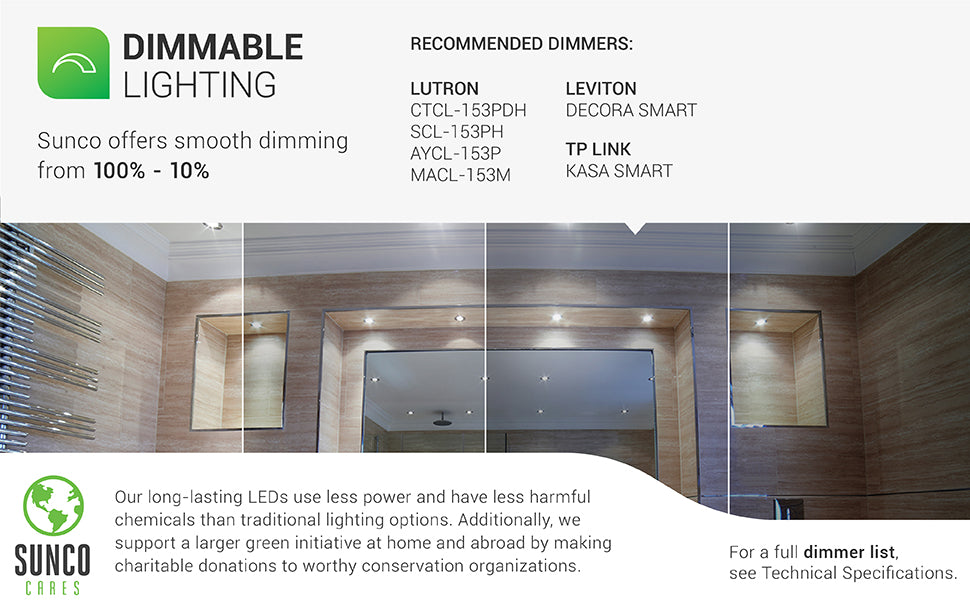 Retrofit downlight offers fast install in existing can. 11W LED is 60W equivalent.