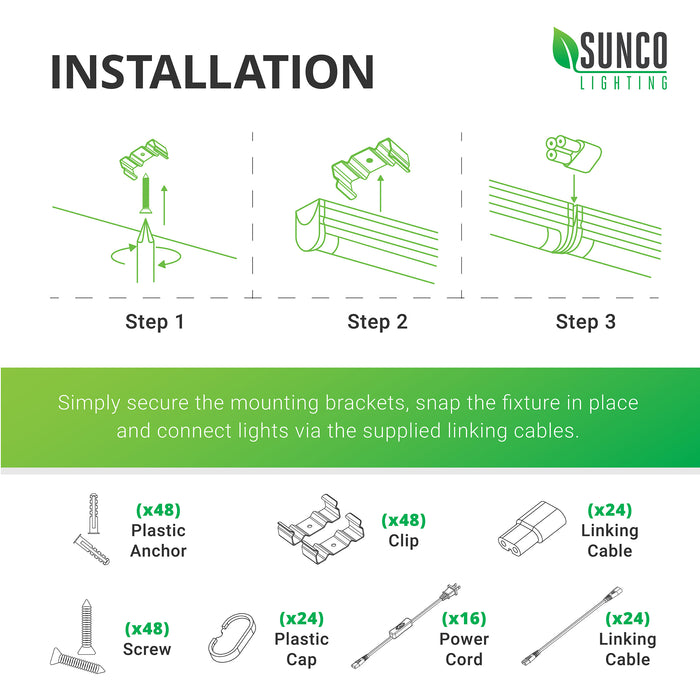 [SCHEMATICS_4HG]  LED T5 Integrated Fixture, Frosted | LED LIGHTING | SUNCO — Sunco Lighting | T5 Light Socket Wiring Diagram |  | Sunco Lighting