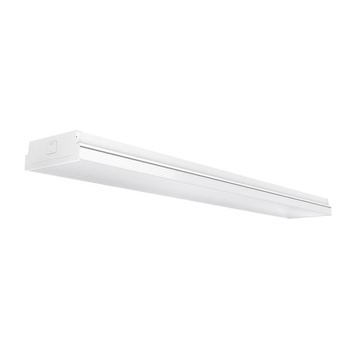 The 7-inch Prisma Wraparound LED Shop Light from Sunco Lighting is a direct mount light fixture with an integrated prismatic lens cover. The slim profile of this light blends into your ceiling for a streamlined look. Easy to install with its direct wire, flush mount installation and included mounting hardware, this fixture provides instant on, bright (6500lm) light in your warehouse, office, hallway, hospital lobby, and other commercial applications.