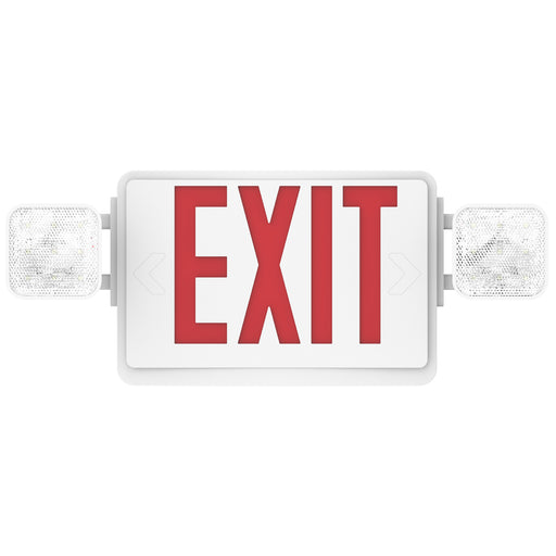 2 Head LED Exit Sign (Red), Floodlight