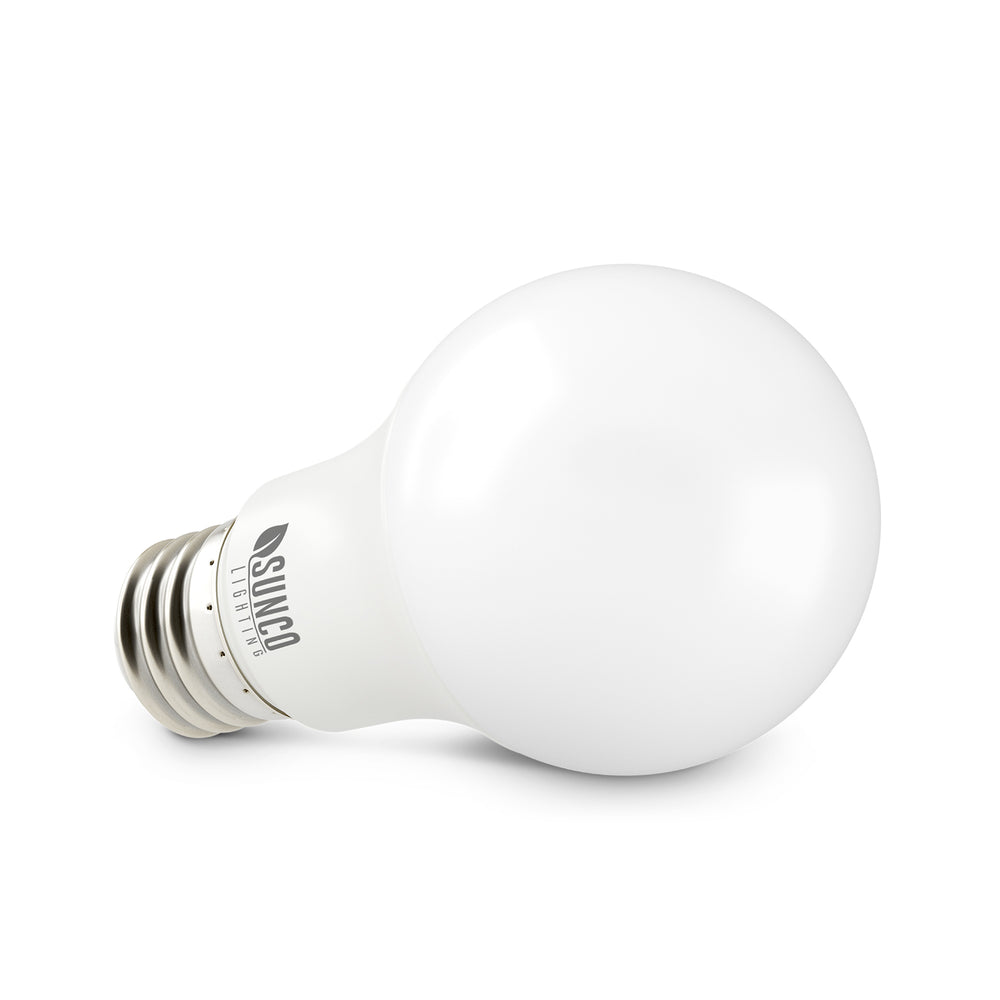 Suitable for most light fixtures with its standard E26 base, the Sunco A19 3W LED Bulb is safe for home or museum artwork as it emits no UV. Use it in your bedroom, kitchen, hallway, living area, in table lamps, showcases, office desk lamps, bathroom lighting, any interior light fixture with an E26 socket. Offers dimming from 100%-10% for adjustable light settings. This 3W LED is a 25W equivalent, which means it a great LED replacement bulb for your power-hungry incandescent and halogen bulbs.