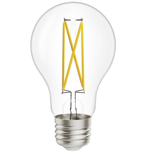 The A19 LED Filament Bulb with Dusk to Dawn from Sunco Lighting is waterproof and wet rated for exterior use. The housing is features dust-tight construction to be reliable in just about any weather. It's a great outdoor lighting solution. The glass housing shows off the LED filament inside for the retro look you want in a backyard, patio, wall sconce, restaurant or bar pendant lamp, or any exposed fixture where the included D2D sensor can detect light levels to automatically turn on/off.