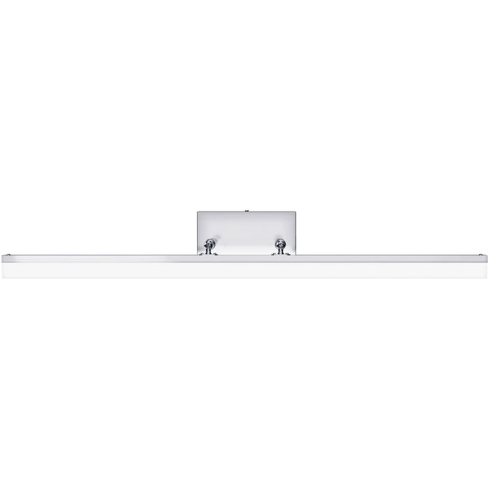 Sunco's Alta Modern Bar LED Vanity Light, Tunable White is seen here head on with the long light bar and metal base. Dual, telescoping arms extend this modern bar light out from the canopy while the bar light can easily tilt up/down 90-degrees. Easily install this light fixture with the simple installation manual. This how to guide also shows how to adjust color temperature with a light switch.
