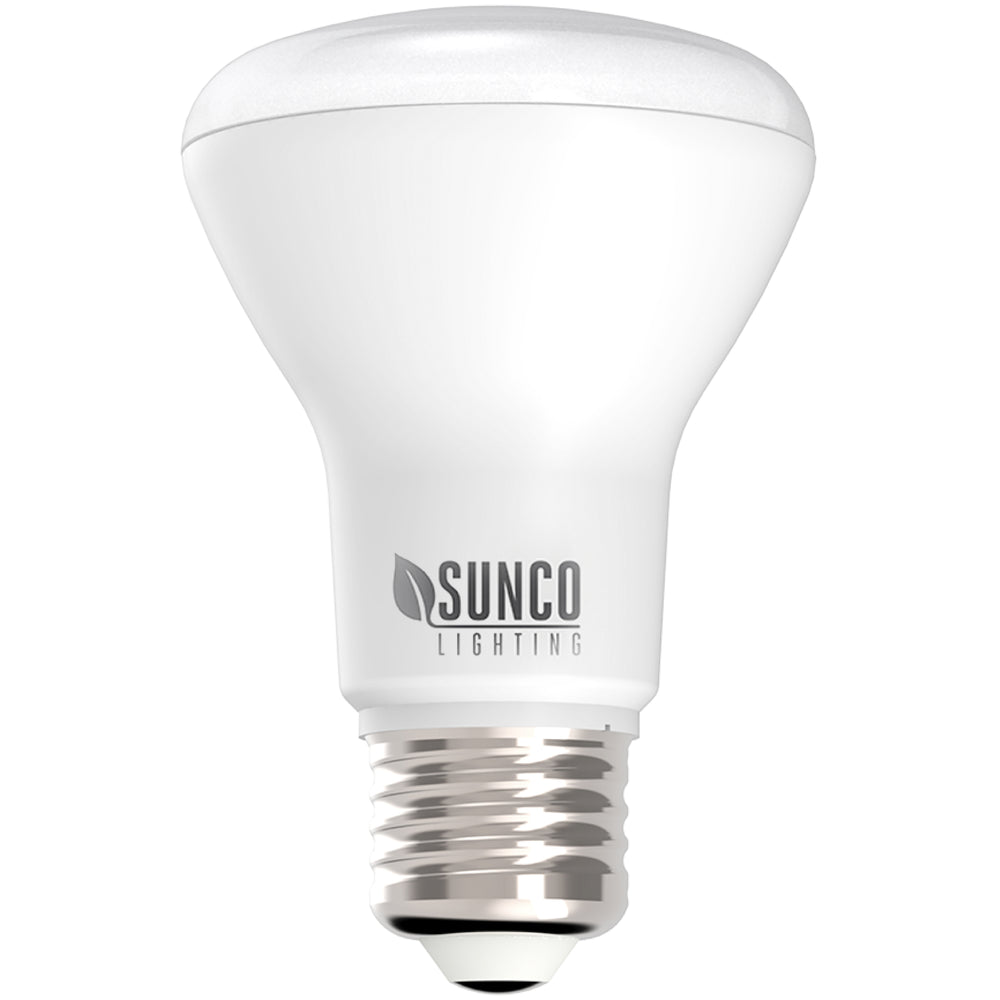 Sunco 7W BR20 LED Bulbs offer dimmable down lights for your 4 inch recessed cans. These LED bulbs are long lasting, have a wide beam angle of 110 degrees for a great light wash in living rooms, dining rooms, conference rooms, commercial applications or retail spaces. The durable bulb consumes only 7 watts yet is a 50 watt equivalent. Available in multiple color temperature choices. Bulk Buy options available.