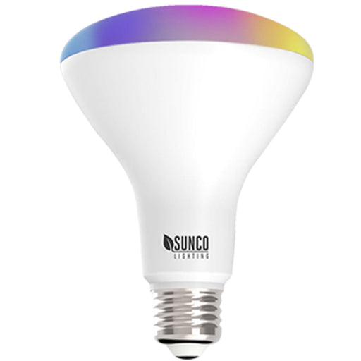 BR30 LED Smart Bulb home dimmable rgb cct color temperatures hue rainbow voice control No Hub required app set schedules scenes music sync. Alexa Google Assistant compatible ENERGY EFFICIENT SUSTAINABLE Bulb Buyer options available